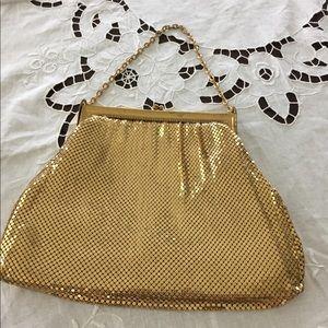 Whiting Davis Geougous gold evening bag